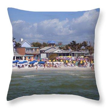 On The Beach Throw Pillow by Renie Rutten