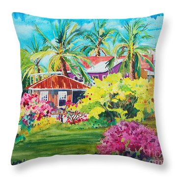 On The Big Island Throw Pillow