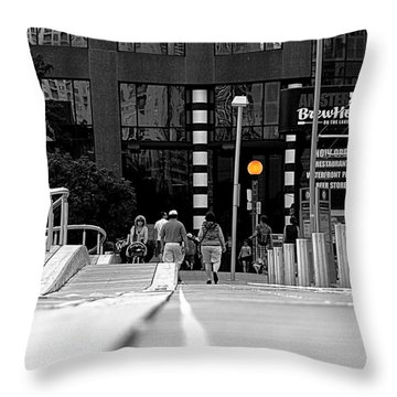 On The Boardwalk Throw Pillow by Valentino Visentini