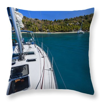 On The Bow Throw Pillow by Adam Romanowicz
