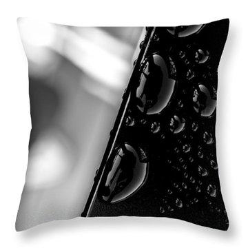 On The Bridge Throw Pillow by Bob Orsillo