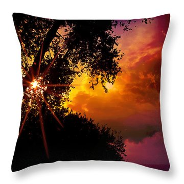 On The Brink Throw Pillow by Kat Besthorn