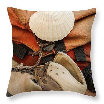 On The Camino De Santiago Throw Pillow