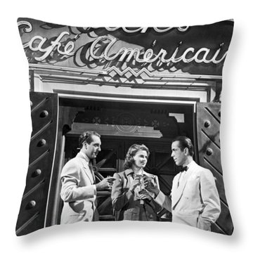 On The Casablanca Set Throw Pillow