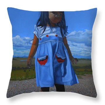 On The Divide Throw Pillow
