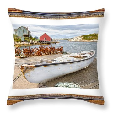 On The Dock Throw Pillow by Betsy Knapp