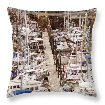 Throw Pillow featuring the photograph On The Dock Of The Bay by Davina Washington