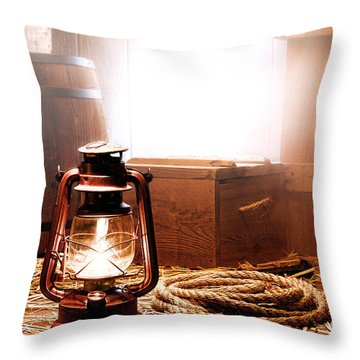 On The Dock Throw Pillow by Olivier Le Queinec