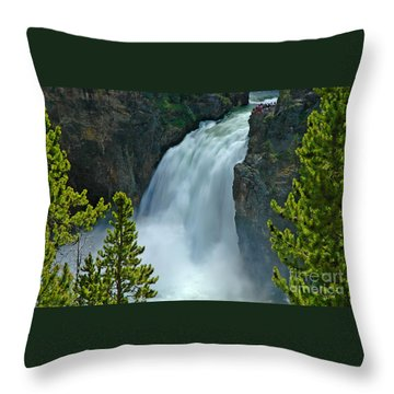 Throw Pillow featuring the photograph On The Edge by Nick  Boren