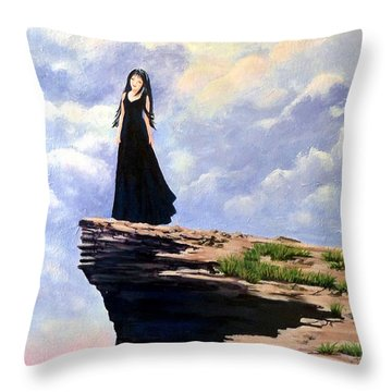 On The Edge Of Marvellous Throw Pillow