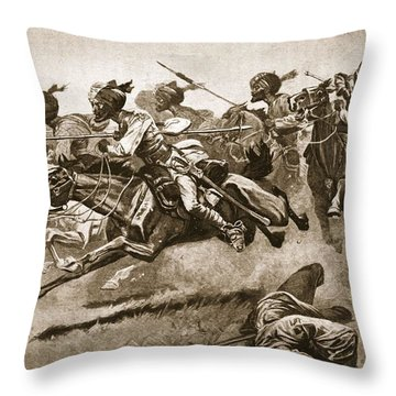 On The Expedition To Pao-ting-fu A Throw Pillow by Stanley L. Wood