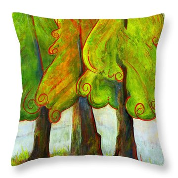 On The Forest's Edge Throw Pillow by Blenda Studio