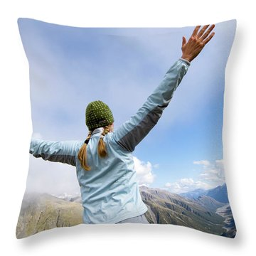 On The Fourth Day Of The Three Passes Throw Pillow