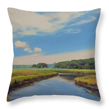 On The Gannett Throw Pillow by Dianne Panarelli Miller