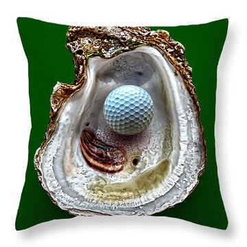 Hole In One Throw Pillow by Walt Foegelle
