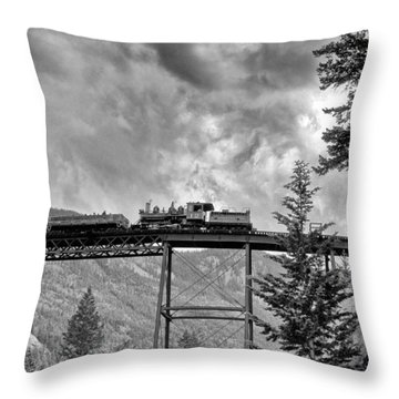On The High Bridge Throw Pillow by Shelly Gunderson
