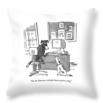 On The Internet Throw Pillow