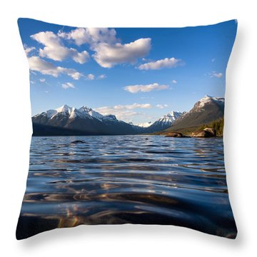 On The Lake Throw Pillow by Aaron Aldrich