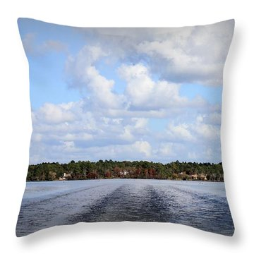 On The Lake Throw Pillow by Debra Forand