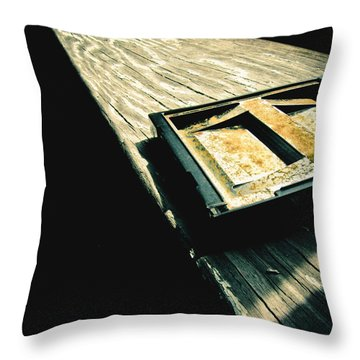 On The Ledge Throw Pillow by Jessica Brawley