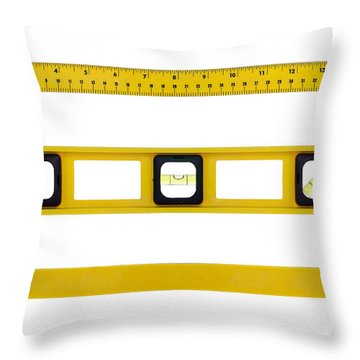 On The Level Throw Pillow by Olivier Le Queinec