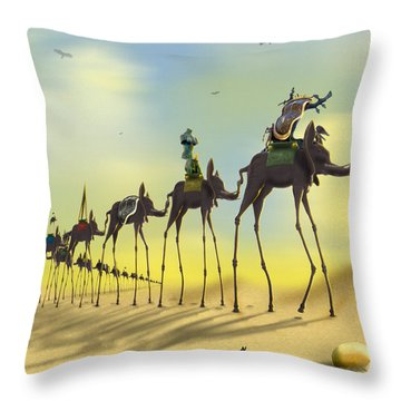 On The Move 2 Without Moon Throw Pillow by Mike McGlothlen