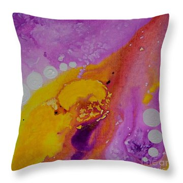 On The Other Side Abstract Art By Saribelle Throw Pillow by Saribelle Rodriguez
