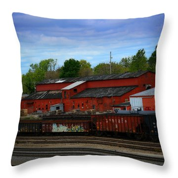 On The Other Side Of The Tracks Throw Pillow by Lena Wilhite