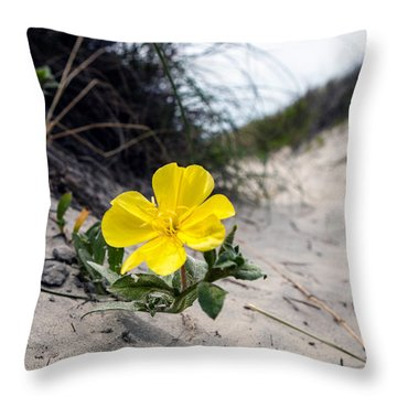 Throw Pillow featuring the photograph On The Path by Sennie Pierson