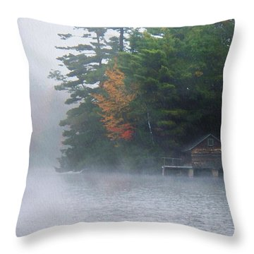 On The Pond Throw Pillow by Joy Nichols