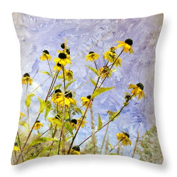 Throw Pillow featuring the digital art On The Prairie by Davina Washington