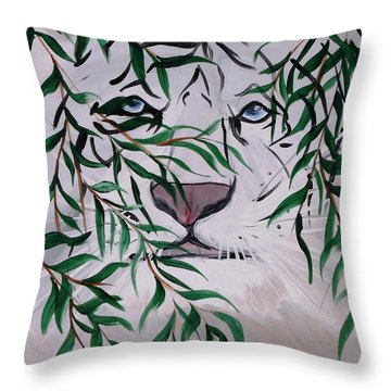 On The Prowl Throw Pillow by Mark Moore