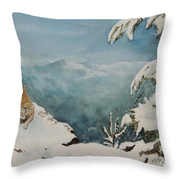 On The Prowl Sold Throw Pillow
