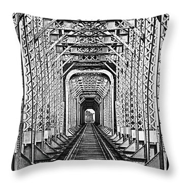 On The Right Track Throw Pillow by Barbara Chichester