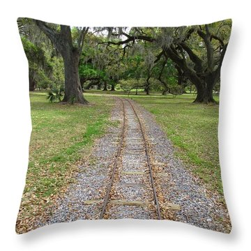 Throw Pillow featuring the photograph On The Right Track by Beth Vincent