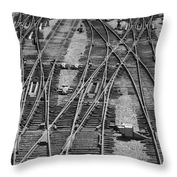 On The Right Track? Throw Pillow