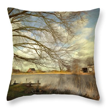 On The River Side Throw Pillow