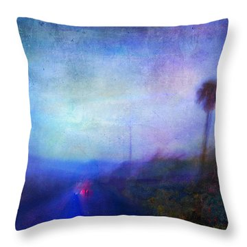On The Road #18 - Lights In Time Throw Pillow by Alfredo Gonzalez