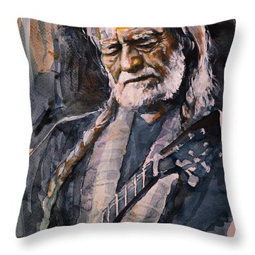 On The Road Again Throw Pillow by Laur Iduc