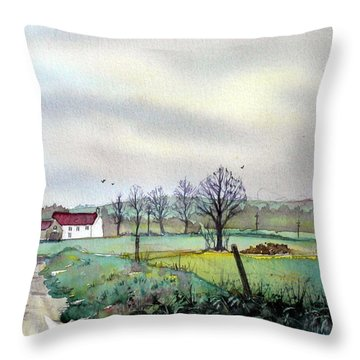 On The Road To Grassmoor Throw Pillow