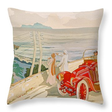 On The Road To Naples Throw Pillow by Aldelmo