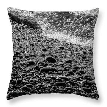 On The Rocks At French Beach Throw Pillow