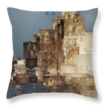 On The Rocks Throw Pillow by David Hansen