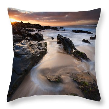 On The Rocks Throw Pillow by Mike  Dawson