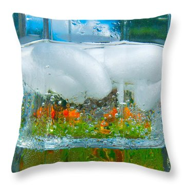 On The Rocks Throw Pillow by Pamela Clements