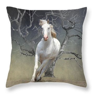 On The Run Throw Pillow by Davandra Cribbie