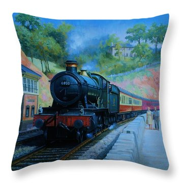 On The Sea Wall. Throw Pillow by Mike  Jeffries