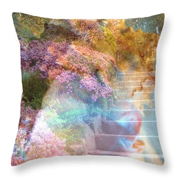 On The Seventh Day Throw Pillow by Shirley Sirois