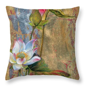 On The Silver Ray Throw Pillow
