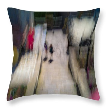 Throw Pillow featuring the photograph On The Stairs by Alex Lapidus
